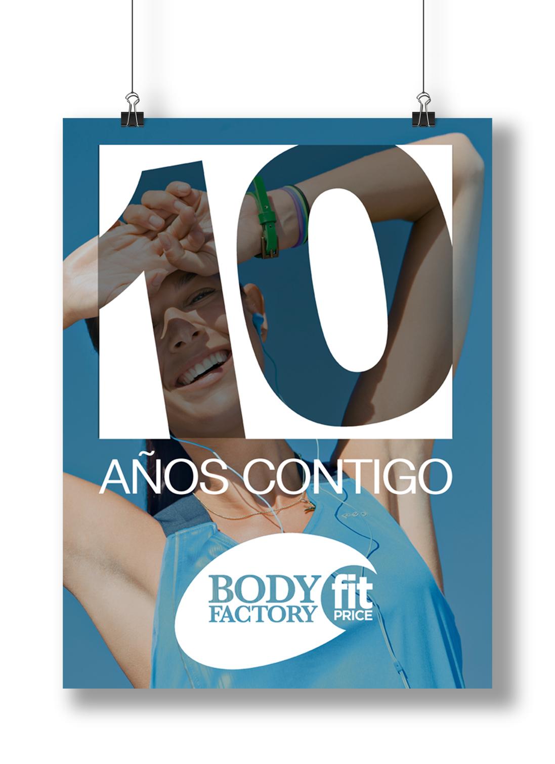 Diseño de Cartelería para gimnasio Bodyfactory Zaragoza