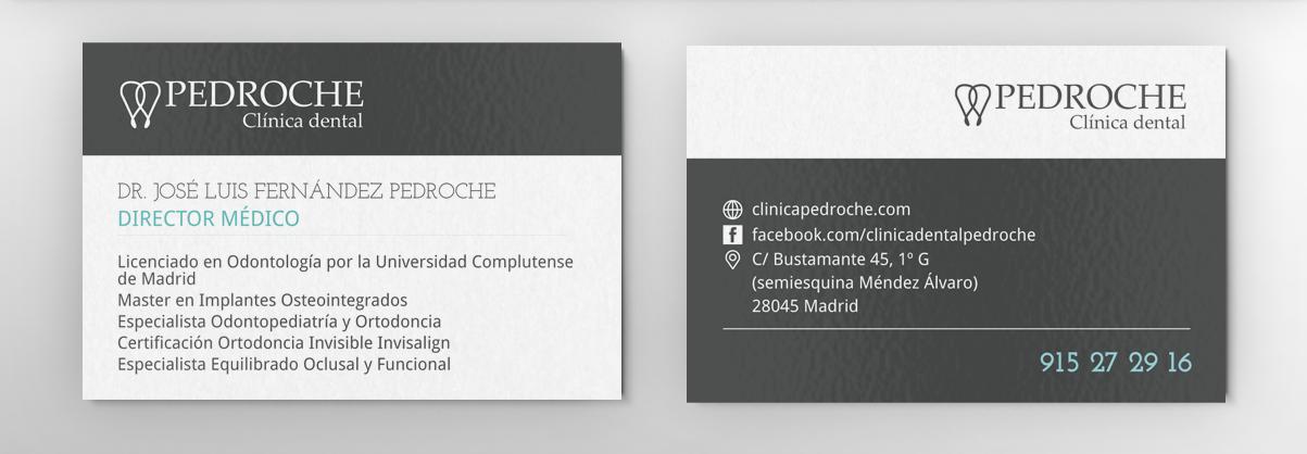 Diseño de tarjetas para Clínica Pedroche