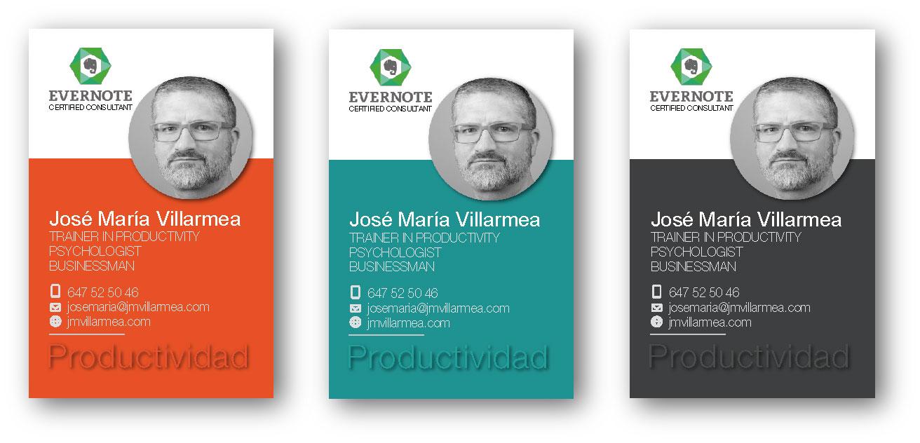 Diseño de tarjetas para JMVillarmea